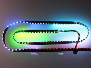 120 LED/m SK6812 Digital RGB LED Side Light Strip, DC5V, 1m