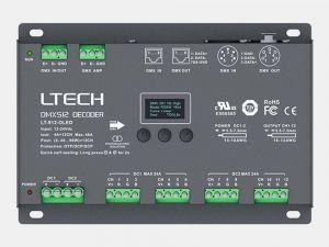 12 Channel DMX RDM to PWM Decoder, 4A/CH, XLR-5, RJ45, 12-24V DC