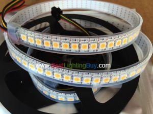 144LEDs/m APA102 White Addressable LED Strip, DC5V, Sold by Meter