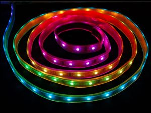 16.4 Ft LPD8806 Digital Addrressable RGB LED Strip, DC5V, IP67 Waterproof
