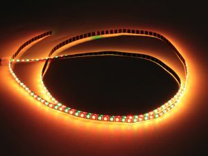 200/m 5mm APA102 Addressable RGB LED Strip, Black, DC5V, 1m