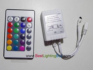 24-Key Infrared RGB LED Controller,  2 Amps/Channel