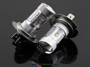 25W CREE H7 LED Automotive Foglight Replacement Bulb, Pack of 2