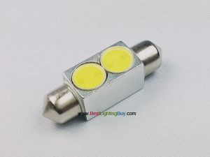 2W Car Interior Dome Festoon LED Light,36mm/39mm/42mm Available, Pack of 2