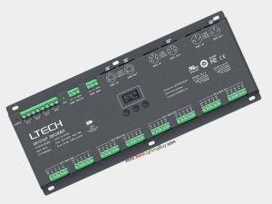 32 Channel DMX RDM to PWM Decoder, 3A/CH, XLR-5, RJ45, 12-24V DC