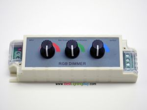 3 Knob RGB Dimmer, 12VDC, 3 Amps/Channel