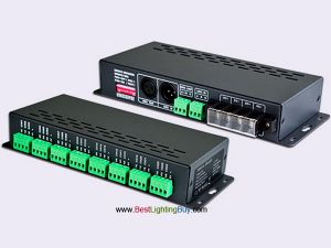 3A ×24CH DMX512 PWM RGB Decoder, DC5V~DC24V Input