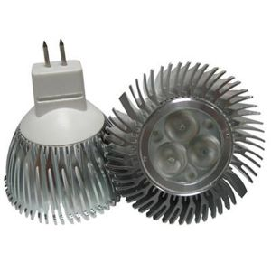 3X1 Watt High Power MR16 GU5.3 LED Spotlight