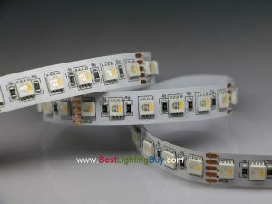 4-in-1 (Quad Chip) RGBW Flexible LED Strip, 96 LED/M, 24V, 5M/Reel