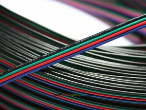 4 Pin 22AWG Extension Wire for RGB LED Strip Light, Sold by Meter