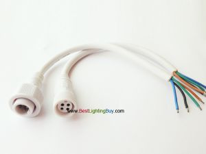 4 Pin IP68 Waterproof Male Female Connector Cable Set