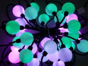 50mm Milky 3D LED Pixel Pendant Balls Strand 360 degree, DMX512, 24V, 20 Balls a Strand