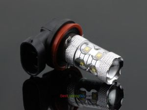50W CREE H8/H11 LED Day Running Fog Light Bulb, Pack of 2