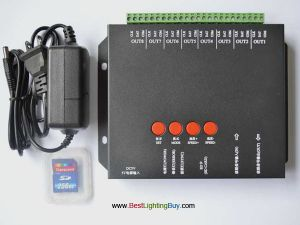 8-port offline T-8000 SD Card LED Controller for Digital RGB LED Strips