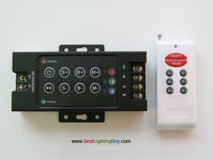 8 Keys RGB RF Remote Controller, 4 Amps/Channel