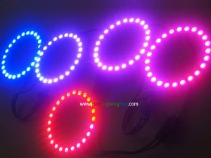 Addressable WS2812B 5050 RGB LED Ring, 6/16/24 Pixels Available
