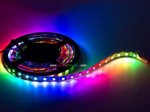 APA102 Digital RGB Addressable LED Strip, 60 LED/m, DC5V, 13.1Ft/reel, Sold by reel