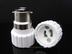 B22 to GU10 Base Lamp Socket Adapter Converter