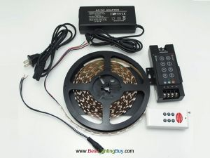 Bright SMD 5050 Flexible RGB LED Strip Kit With 8 Keys Controller