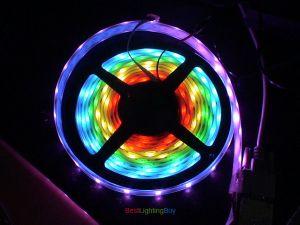 Digital HL1606  RGB Flexible LED Strips, DC 5 Volt, IP67 Waterproof
