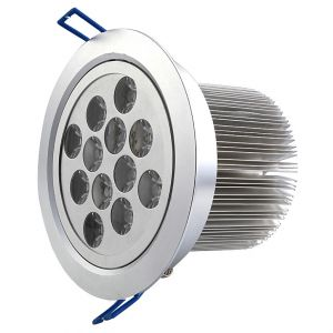 12 Watt Super Bright LED Recessed Downlight, AC 100-240 Volt, 1100 Lumen