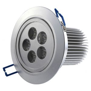5 Watt Recessed LED Downlight, AC 100-240 Volt, 400 Lumen