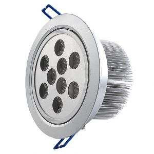 9 Watt LED Recessed Downlight, 30 Degree Beam Angle, 810 lumen
