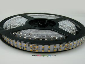 Double Row SMD 3528 Flexible LED Light Strip, 240 LEDs/M, 12V/24V DC