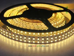 Double Row SMD 5050 Flexible LED Strip, 126 LEDs/M, 12V DC