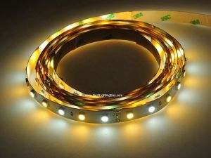Dual White Color Temperature Adjustable SMD5050 Flexible LED Strip, 60 LED/M, 12V DC