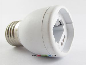 E26/E27 to G24 Base Bulb Lamp Adapter Converter