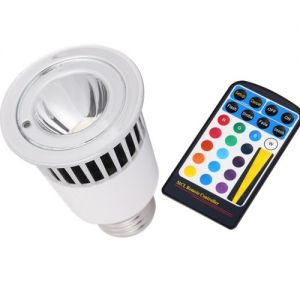 5 Watt E27 Multi Color LED Bulb With Remote Controller