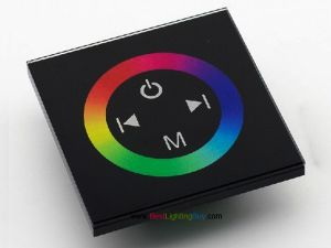 Glass Faced Touch Wheel RGB Controller, 12-24VDC, 4A/CH