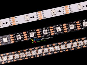 HD107S RGB Addressable LED Strip, High PWM Frequency, 144/60/30 LEDs/m Density Available