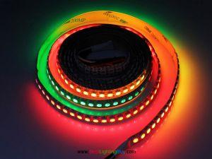 High Density WS2812B Digital RGB LED Strip, 144 LED/M, DC5V, Sold by Meter
