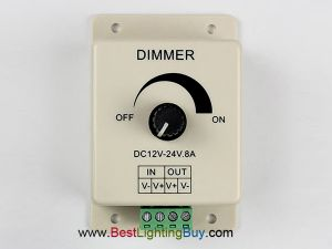 Knob Manual PWM Single Color LED Dimmer