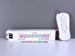 LT-3600RF RGB controller with RF Remote, 6A/CH, 12V-24V DC