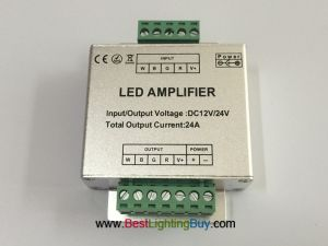 RGBW LED Signal Amplifier (Data Repeater) for RGBW LED Strip, DC 12V-24V, 6A/CH