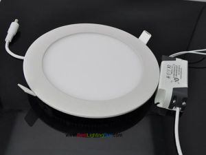 Round Recessed Ceiling LED Panel Light, 6W/9W/12W/15W/18W Available