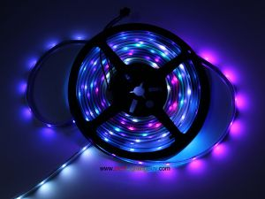 SK6812 RGB Addressable LED Strip, 30 LEDs/m, 5m/reel, Sold by Reel
