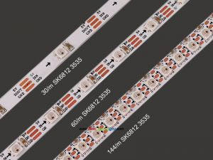Ultra thin SK6812 3535 Digital RGB LED Strip, DC5V, 144/60/30 LEDs/m Density Available