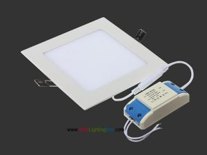 Ultra-thin Square Recessed Ceiling LED Panel Light, 6W/9W/12W/15W/18W Available