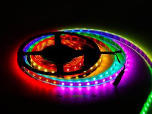 WS2811IC Chip-built-in Digital Addressable RGB LED Strip, 5V, 16.4Ft/reel, Sold by reel