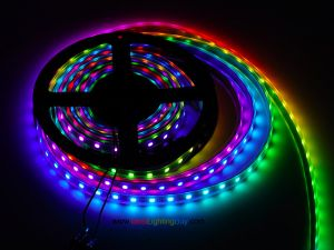 WS2812B Digital Addressable RGB LED Strip, 60 LED/m, DC5V, 13.1Ft/reel, Sold by reel